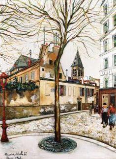 L'Église Saint-Médard à Paris by Maurice Utrillo (paintingstar)