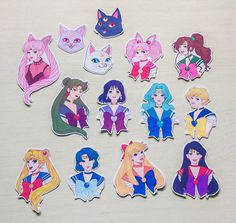 Sailor Moon Sticker Pack  Mini by MikomiAccessories on Etsy