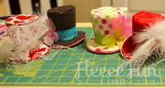 Learn how to make mini top hats for your mad hatter party! So Cute!!