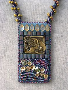 Cathy Cederlind Bead Embroidery: Deco Woman Cathy Cederlind Bead Embroidery: Deco Woman Source by . Bead Embroidery Patterns, Embroidery Bracelets, Bead Embroidery Jewelry, Fabric Jewelry, Beaded Embroidery, Seed Bead Jewelry, Jewelry Art, Beaded Jewelry, Handmade Jewelry