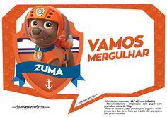 Plaquinhas para festa Patrulha Canina Zuma