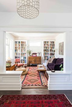 I would be happy to move the TV to the library, and move the books to the living room.