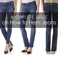 You've found your perfect pair of jeans, but they're not perfect until they're proper hemmed for you. How to hem jeans is a big question, it can be a complicated Hemming Jeans, Hem Jeans, Ways To Wear A Scarf, How To Wear Scarves, Sewing Hacks, Sewing Tutorials, Sewing Projects, Sewing Tips, Sewing Ideas