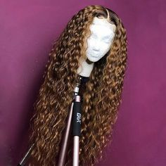 Curly Full Lace Wig with Baby Hair Ombre Color Human Hair Lace Front Wigs Pre-Plucked Hairline - Full Lace Wigs - Human Hair Lace Wigs Curly Hair Styles, Natural Hair Styles, Wig Styles, Natural Hair Weaves, Weave Styles, Plus 4, Wigs For Black Women, Ombre Hair, Hair Looks