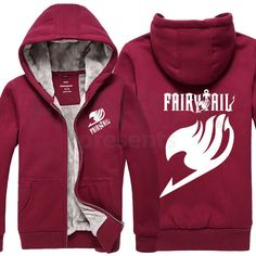 Fairy Tail Logo Thick Zip Up Hoodies