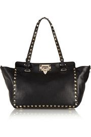 The Rockstud small leather trapeze bag