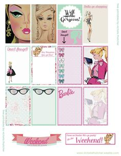 Free Barbie Planner Stickers | Victoria Thatcher