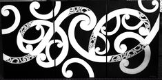 Black and white maori panels Wood Carving Faces, Wood Carving Patterns, Wood Carving Art, Carving Designs, Maori Designs, Maori Patterns, Polynesian Art, Nz Art, Maori Art