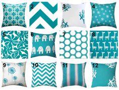 JULY 4TH SALE Turquoise Throw Pillow  by LandofPillowsDotCom, $15.99