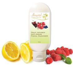 Fruit Infused Anti-Aging Facial Cleanser - Organic and 100% Natural Face Wash - 4 oz. - by Alimental Organic Skin Care. This is a natural and organic product containing no preservatives. This premium quality cleanser is specifically designed to naturally aid in the reduction of fine lines and wrinkles. Formulated with Vitamin C for age repair, to increase skin firmness and protect from damaging effects of UV exposure. Powerful antioxidant fruits from around the world help make your...