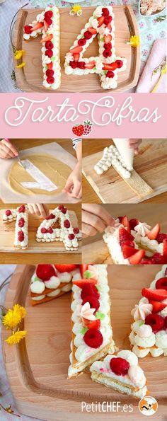 Tarte chiffres ou number cake - Alfileres Tutorial and Ideas Drip Cakes, No Cook Desserts, Dessert Recipes, Beautiful Cakes, Amazing Cakes, Cake Cookies, Cupcake Cakes, Bolo Original, Cake Lettering