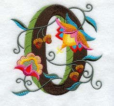 Machine Embroidery Designs at Embroidery Library! - Jacobean Number 0 (5 Inch)