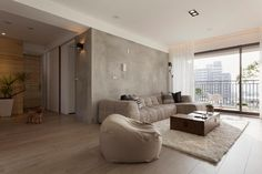 Contemporary Apartment by Fertility Design | Similar look from Sleek Modern Furniture: the Ruffle Sectional in Brown