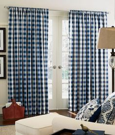 Navy and white never looked crisper and clearer than it does here with Buffalo Check from Country Curtains.