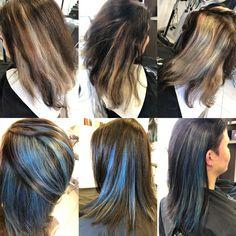#bluehair #coiffurecitylangenthal #unschlaghaarschön Make Up, Long Hair Styles, Beauty, Hairstyle, Blue Hair, Long Hairstyle, Long Haircuts, Beauty Makeup, Long Hair Cuts