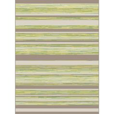 Piazza Green/Brown 5 ft. 3 in. x