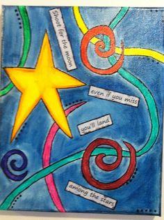 "8x10 and smaller pieces - OsborneOriginals...""shoot for the moon..."" watercolor"