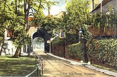 A collection of old postcards of Richmond and Kew, in Surrey, Richmond Surrey, Richmond Upon Thames, Cool Photos, Interesting Photos, Vintage Postcards, Palace, The Past, Old Things, Sidewalk