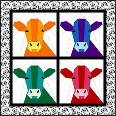 A blogging friend, Nancy Near Philadelphia, is collecting blocks for a COW quilt. I live in Wisconsin, the Dairy State, Cheesehead Central, so of course I had to participate. She asked what I wante...