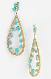 Melinda Maria 'Floating Mosaic' Open Teardrop Earrings