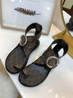 New Vuitton LV 18059955283 – louis vuitton shoe sandals Cute Sandals, Open Toe Sandals, Brown Sandals, Leather Sandals, Shoes Sandals, Louis Vuitton Shop, Louis Vuitton Handbags, Lv Handbags, Lit Shoes