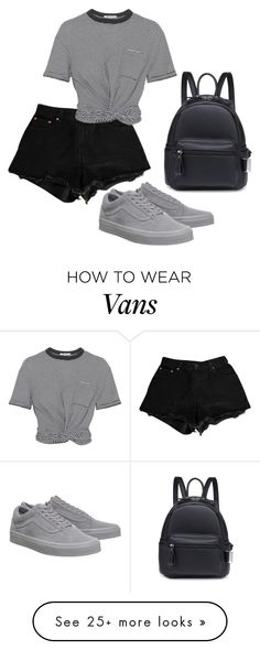 """Sem título #1720"" by natalierlu on Polyvore featuring Levi's, T By Alexander Wang and Vans"