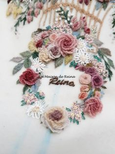 새벽 3시45분! 드디어 Summer Symphony의 아랫부분까지 모두 수를 놓았습니다. 오늘 아침 살짝 이거하고 ... Bullion Embroidery, Hand Embroidery Videos, Embroidery Stitches Tutorial, Simple Embroidery, Hand Embroidery Stitches, Vintage Embroidery, Ribbon Embroidery, Floral Embroidery Patterns, Flower Patterns
