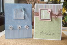 Easy Quick Demo Cards by michelle fischer - Cards and Paper Crafts at Splitcoaststampers Alphabet Stamps, Monogram Alphabet, Easy Cards, Card Sketches, Cardmaking, Punch, Stampin Up, Ribbon, Paper Crafts