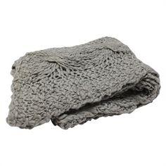 Grey Chunky Knit Throws