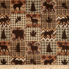 Timber Lodge Flannel Patch Earth Brown from @fabricdotcom  Designed by Pela Studio for Kaufman Fabrics, this soft double napped flannel (brushed on both sides) is perfect for quilting and apparel. Colors include shades of brown, taupe and cream.