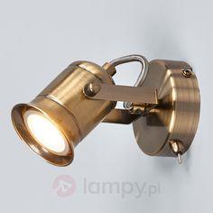 Rustykalny spot LED GU10 Marlis, post. mosiądz bezpieczne & wygodne zakupy w sklepie internetowym Lampy.pl.