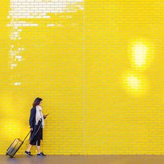 Following the yellow brick path to adventure with @felixmooneeram. #LetsGoSmarter Brick Path, Cabin Bag, Letting Go, Adventure, Photo And Video, Studio, Yellow, People, Instagram