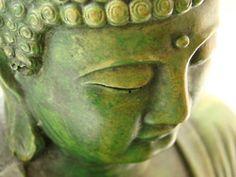 buddha this buddah is not one of my own. Buddha Zen, Buddha Buddhism, Buddha Garden, Tiny Buddha, Little Buddha, Yoga Meditation, Yoga Inspiration, Painting Inspiration, Shades Of Green