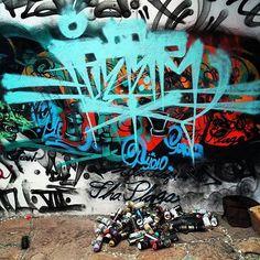 Pleter (@pletherone) over the spent ammunition.  #plether #handstyle #graffiti //follow @handstyler on Instagram