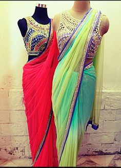 Designer sarees by Arpita Mehta ~ Celebrity Sarees, Designer Sarees, Bridal Sarees, Latest Blouse Designs 2014 Indian Attire, Indian Ethnic Wear, India Fashion, Asian Fashion, Indian Dresses, Indian Outfits, Tela Hindu, Desi Clothes, Indian Clothes