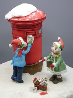 Collaboration Believe in the magic of christmas: X mail - cake by Olina Wolfs