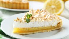 Tangy, sweet, and flaky, this lemon meringue pie checks all of your dessert boxes.