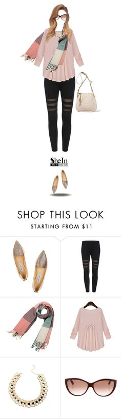 """""""A casual day"""" by kriz-nambikatt on Polyvore featuring Jimmy Choo, Alexander McQueen and Chloé"""