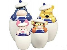 Winnie the Pooh, Tigger, Piglet, Eeyore, by Disney cookie jars and collectibles Winnie The Pooh Friends, Disney Winnie The Pooh, Eeyore, Tigger, Animal Crossing Plush, Disney Dishes, Disney Cookies, Cool Kitchen Gadgets, Kitchen Stuff