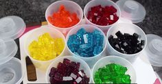 How to make your own lego gummies