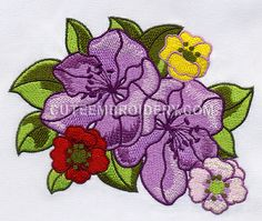 This free embroidery design is a bunch of flowers. Enjoy!