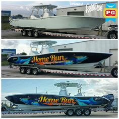 BEFORE & AFTER 36' Yellowfin boat wrap installed for our friends at Home Run Fishing Charters, check them out!!! #pgnola, #yellowfin, #boatwrapsneworleans, #boatwrapslouisiana, #boatwrap, #fishingcharters, #charters, #homeruncharters, #saltlife, #tunafishing, #wrapcity, #wrappedworld, #wrapchannel, #wrappedworld, #centerconsole, #offshore, #neworleanscarwraps, #vehiclewrapsneworleans, #fishing, #charterfishing, #venice, #empire,