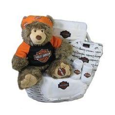 My Daddy Rides A Harley Baby Shower   Harley Davidson Baby Gift Basket **