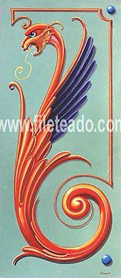"""""""Dragon magyar""""  Alfredo Genovese (1999)  Esmalte sintético sobre hardboard.  Medidas: 60 x 122 cm."""