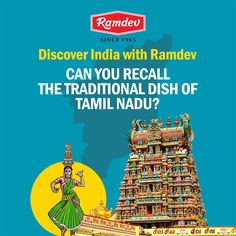 Discover India with Ramdev     #Contest known for their belief that serving food to others is a service to humanity, yes, it's Tamil Nadu this time. Deep rooted to their tradition, can you recall the traditional dish of Tamil Nadu?    #Ramdev #TamilNadu #FoodDiscovery #India