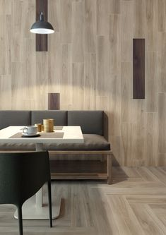 Ceramiche Caesar Whisper - Made in USA Tropical Tile, Wood Effect Porcelain Tiles, Chevron Tile, Wood Mosaic, Floor Finishes, Home Collections, Restaurant Bar, Natural Wood, Design Projects