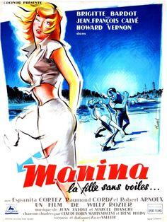 Manina la fille sans voiles (The Girl in the Bikini)   French movie poster, 1952.