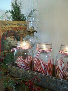Candy canes in a jar. No website