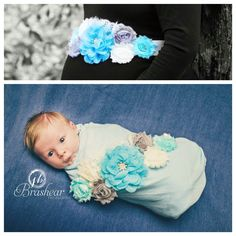 Maternity sash incorporated into newborn photo session.  So beautiful!
