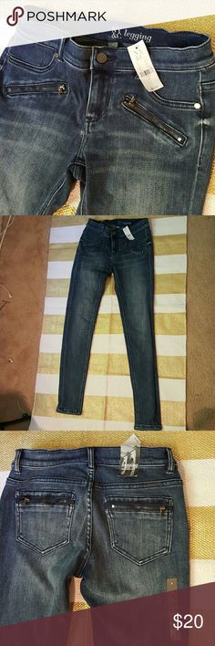 NWT New York & Company skinny jean New with tags, never worn New York & Company skinny jeans. Zipper pockets on both the front and back. No damages whatsoever done, they are brand new. Jeans are a size 2. Very comfortable and stretchy, like a jegging. New York & Company Jeans Skinny